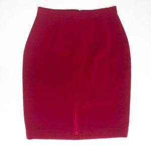 NWT✨ Ann Taylor Petite Red Pencil Skirt